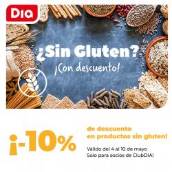 Chollo - 10% de descuento en productos sin gluten en Supermercado DIA