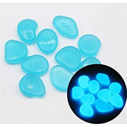 Chollo - 100 Piedras luminosas azules decorativas