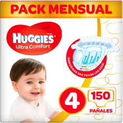 Chollo - 150 Pañales Huggies Ultra Comfort - Talla 4 (7-18 kg)
