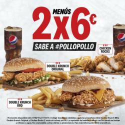 Chollo - 2 Menús de Pollo en KFC