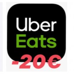 Chollo - 20€ en tus 2 primeros pedidos en Ubereats