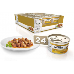 Chollo - 24 latas de Purina Gourmet Gold Bocaditos en Salsa con Pollo e Higado (24x85g)