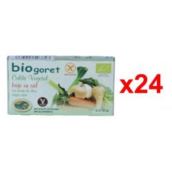 Chollo - Pack 24x Cajas de pastillas de Caldo vegetal ecológico Biogoret Bajo en Sal 24x 6x 10g