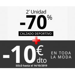 Chollo - 2ª Ud. -70% y Cupón -10€ Extra en Calzado Deportivo