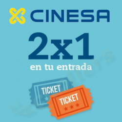 Chollo - 2x1 en Entradas de Cine en Cinesa