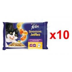 Chollo - 40 Purina Felix Sensations Jellies Gelatinas (10x4x100g)