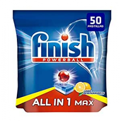 Chollo - 50 Pastillas Lavavajillas Finish Powerball All in 1 Max Limón
