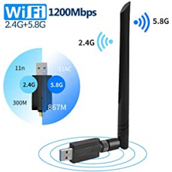 Chollo - Adaptador WiFi FREESOO AC1200 Dual Band USB 3.0