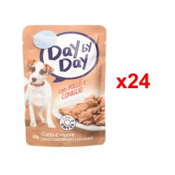 Chollo - ADOC Day by Day Pollo y Conejo Alimento húmedo para perros Pack 24x 100g   01064970