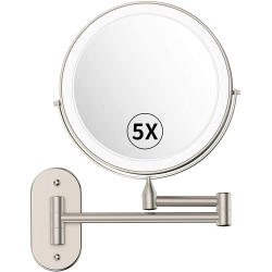 Chollo - Alvorog Espejo de baño LED con brazo articulado