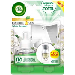 Chollo - Ambientador eléctrico Air Wick Essentials Oils White Bouquet (aparato + recambio)