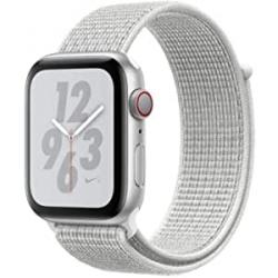 Chollo - Apple Watch Nike+ Series 4 GPS + Cellular 40mm Aluminio Plata Correa Nike Sport Loop Blanco polar | MTXF2TY/A