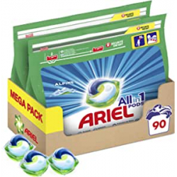 Chollo - Ariel Pods All in 1 Alpine Detergente lavadora cápsulas Pack 2x 45 Lavados