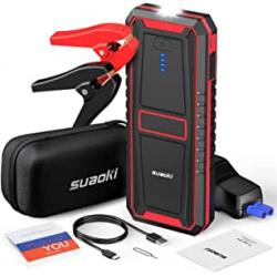 Chollo - Arrancador de baterías Suaoki U17 12V 1000A 18000mAh