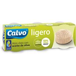 Chollo - Pack 3x Atún claro con aceite de oliva Calvo Ligero Lata (3x60g)