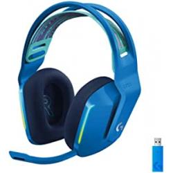 Chollo - Auriculares inalámbricos Logitech G733 LIGHTSPEED RGB Blue - 981-000943