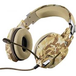Chollo - Auriculares Trust GXT 322D Carus Desert Camo - 22125