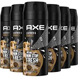 Chollo - Axe Collision Leather & Cookies 48H Non Stop Fresh hombre Desodorante Pack 6x 150ml