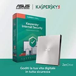 Chollo - Grabadora DVD externa ASUS Zendrive U9M Ultra Slim + Software Internet Security Kaspersky