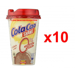 Chollo - Bandeja 10 Vasos ColaCao Shake 0% (10x200ml)