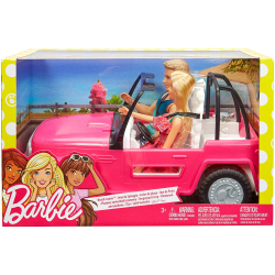 Chollo - Barbie y Ken Coche de Playa - Mattel CJD12