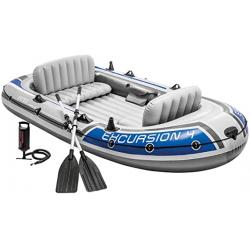 Chollo - Barca Hinchable  Intex Excursion 4 con 2 Remos