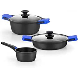 Chollo - Batería de cocina Monix Solid+ 3 piezas - M369903