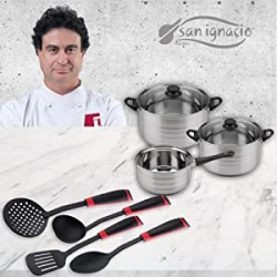 Chollo - Batería de Cocina San Ignacio 5 Piezas + 4 Utensilios