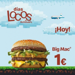 Chollo - Big Mac a 1€ en los Días Locos de McDonald's