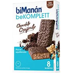 Chollo - biManán BeKomplett Chocolate Crujiente 8 Barritas