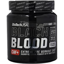 Chollo - BioTechUSA Black Blood CAF+ Blue grape Pre-entreno 300g