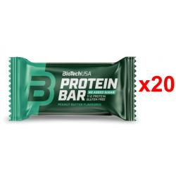 Chollo - BioTechUSA Protein Bar Crema de cacahuete Barrita de proteína Pack 20x 35g