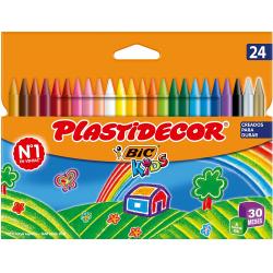 Chollo - Blíster 24 Ceras Bic Plastidecor Bic Kids