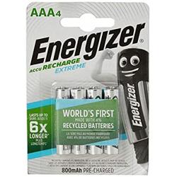 Chollo - Blíster 4 pilas recargables Energizer Extreme AAA/HR03