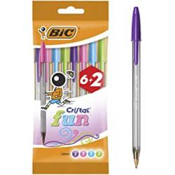 Chollo - Blíster 8 Bolígrafos Bic Cristal Fun