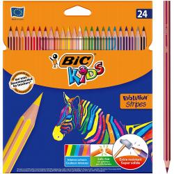 Chollo - Blíster BIC Kids Evolution Stripes 24 Lápices