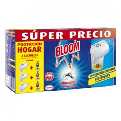 Chollo - Bloom antimosquitos insecticida moscas y mosquitos 3 aparato difusor eléctrico 3 recambio líquido