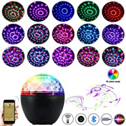 Chollo - Bola de discoteca LED con Altavoz Bluetooth Anpro USB