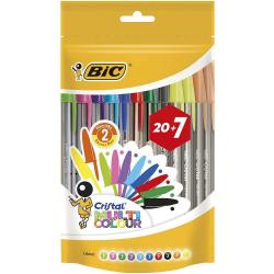 Chollo - Bolsa 20+7 Bolígrafos BIC Cristal Multicolour