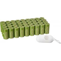 Chollo - Bolsas para heces de perro Mango brasileño 540 unidades + Dispensador + Pinza para correa Amazon Basics