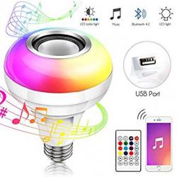 Bombilla Inteligente RGB Haofy MP3 con Altavoz