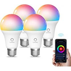 Chollo - Bombillas LED RGB inteligentes WiFi Lumary E27 9W Pack 4x