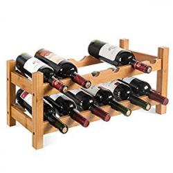 Botellero de Bambú Homfa para 12 Botellas