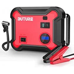 Chollo - BuTure BR700 Arrancador de baterías 2500A con Powerbank 23800mAh y Compresor 150PSI