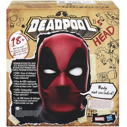 Chollo - Cabeza premium interactiva Deadpool Marvel Legends 1:1 | Hasbro E6981EW0