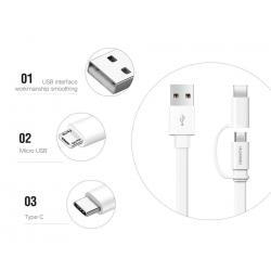Chollo - Cable Huawei Honor 2 en 1 USB Tipo-C de carga  & Datos