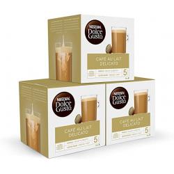 Chollo - NESCAFÉ Dolce Gusto Café con Leche Delicato Pack 3x 16 cápsulas