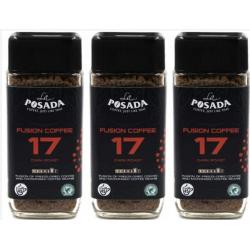 Chollo - Pack 3x Café liofilizado La Posada Fusion Cofee 17 Dark Roast 3x90g