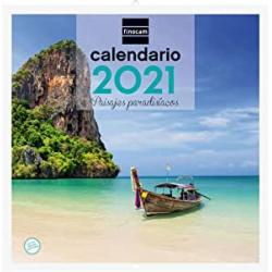 Chollo - Calendario de pared 2021 Finocam Paisajes Paradisíacos 30x30cm