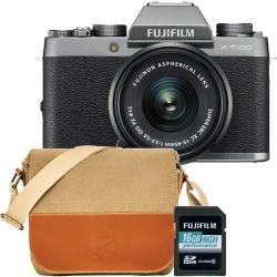Chollo - Cámara Evil Fujifilm X-T100 + XC 15-45 mm + Funda + SDHC16